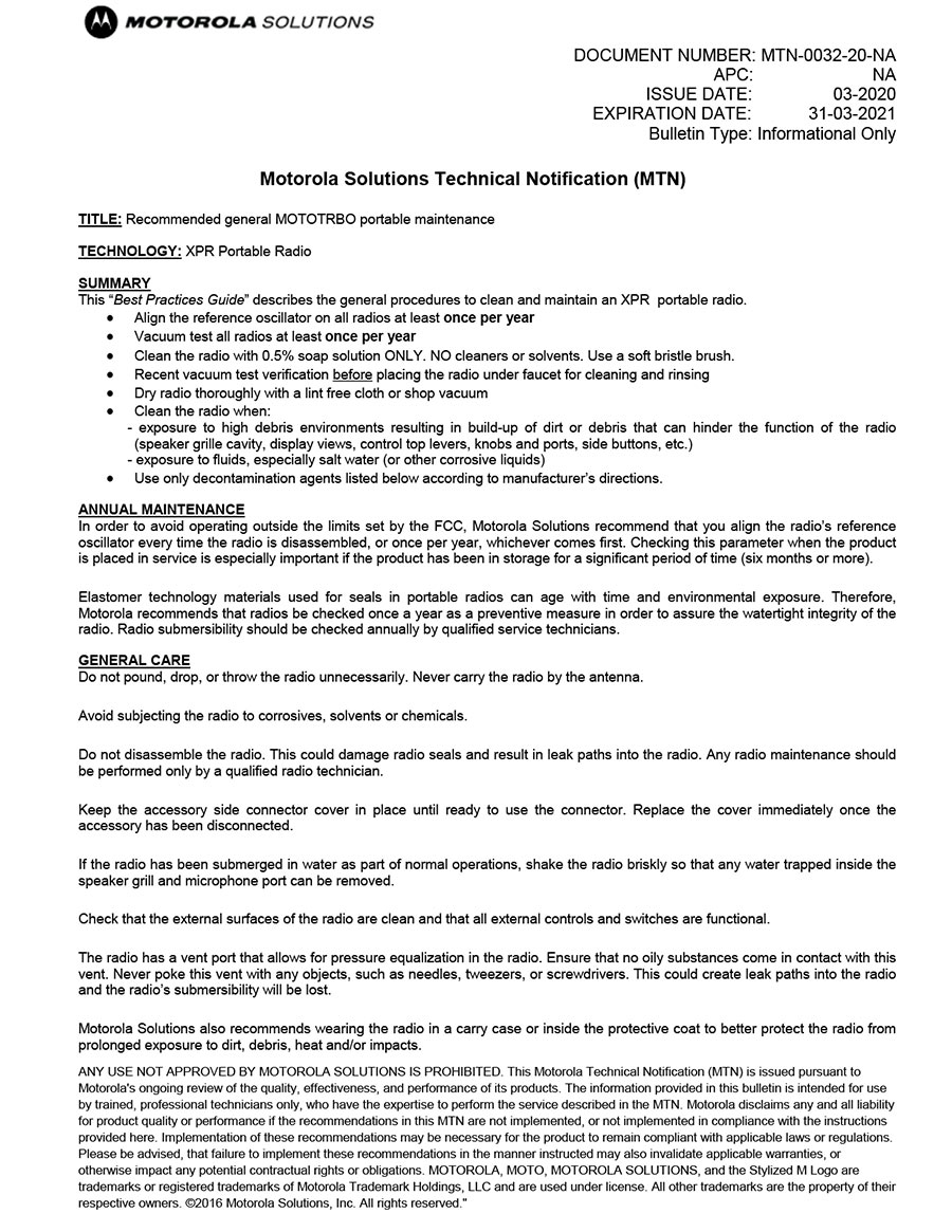 TRBO Cleaning Instructions